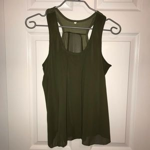 Tops - Women's Olive Green Tank Top - No Tags